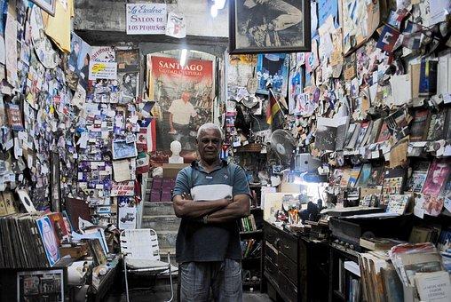Santiago De Cuba, Cuba, Downtown, Shop, Books, City