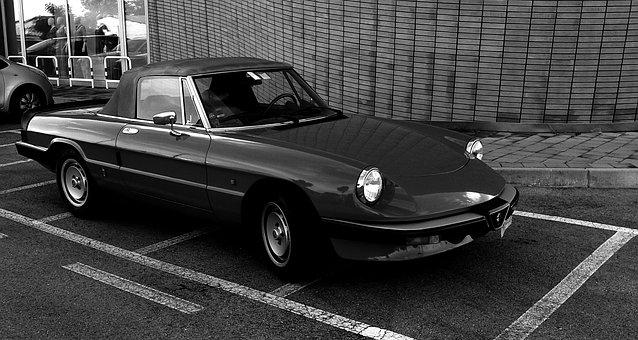 Vintage Car, Alfa Romeo, Cabrio, Sport, Convertible