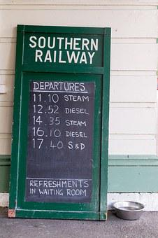 Railway, Chalkboard, Timetable, Rail, Board, Transport