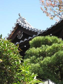 Kyoto, Shrine, Roof, Asian Style, Architecture
