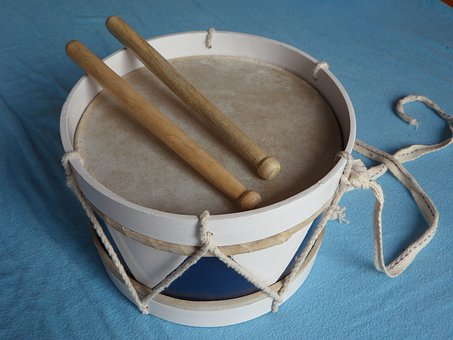 Drum, Wooden Drum, Instrument, Children, Toys, Schlegel