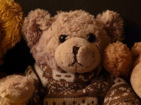 Teddy Bear, Soft, Fluffy, Cuddly, Purry