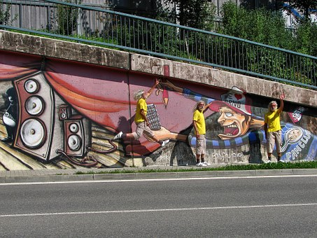 Graffiti, Graffiti Wall, Brno, Czech, Paint, Spray