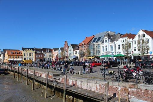 Husum, Port, City, Norddeutschand, North Sea