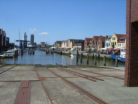 Husum, Port, North Sea, Shipyard