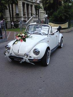 Oldtimer, Vw Beetle, Vehicle, Automotive, Wedding