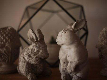 Rabbit, Of Home Decor, Statue, Animals, Home, Puppet