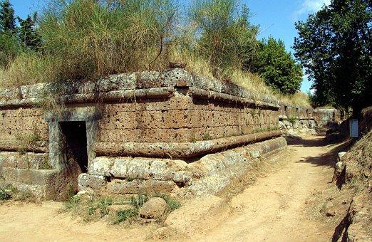 Italy, Necropolis, Etruscan, Grave, Cerveteri