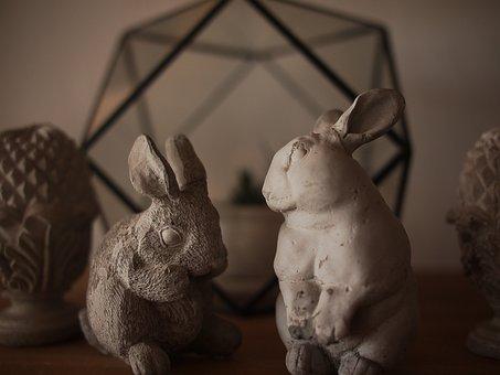 Rabbit, Of Home Decor, Statue, Animals, Home, Puppet