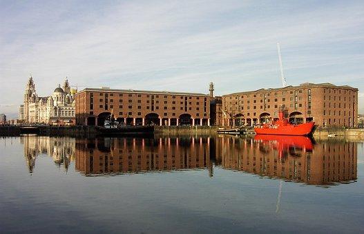 Liverpool, Boat, Dock, Albert Dock, Water, England
