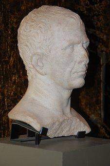 Caesar, Bust, Arles, Antique, Vestige, Romans