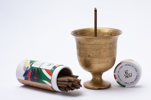 Incense, Incenses, Cup, Incense Chalice, Brass, Pack