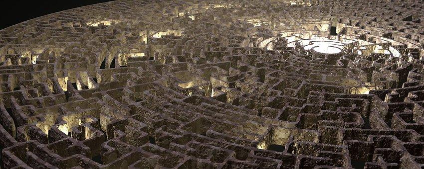 Maze, Graphic, Render, Labyrinth, Design, Puzzle, Path