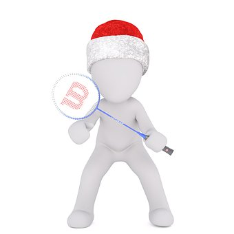 White Male, Isolated, 3d Model, Christmas, Santa Hat