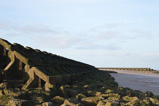 New Brighton, Wallasey, Beach, Mersey, North Sea