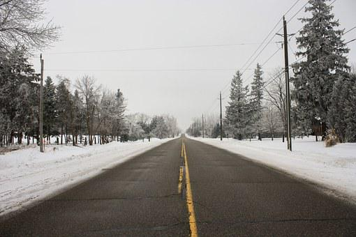 Road, Winter, Snow, Cold, Travel, Highway, Pavement