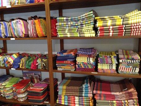 Arles, Provencal Fabrics, Provence, Shelf, Dishtowels