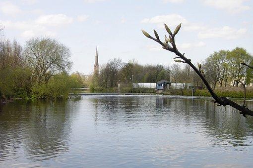 St Elphin, River Mersey, Warrington Parish Church