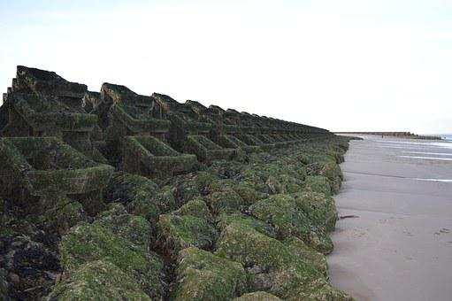 Rocks, Beach, Breakwater, Tide, Coastal, Coast
