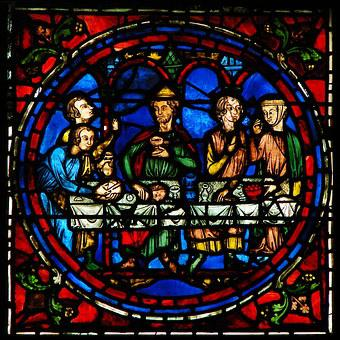 Window, Stained Glass, Cathedral Of Chartres, 1193-1220