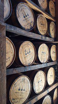 Wooden, Whiskey, Barrels, Woodford Reserve, Bourbon