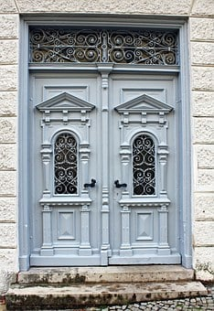 Wooden Door, Door, Input, Artfully, Historicism