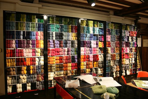 Knitting, Skeins Of Wool, Crochet, Wool Shop