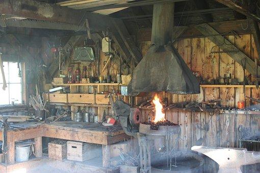 Blacksmith, Shop, Workshop, Craft, Equipment, Horseshoe