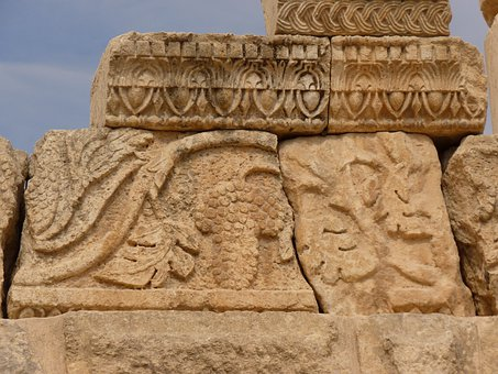 Temple Of Artemis, Gerasa, Jerash, Jordan, Holiday