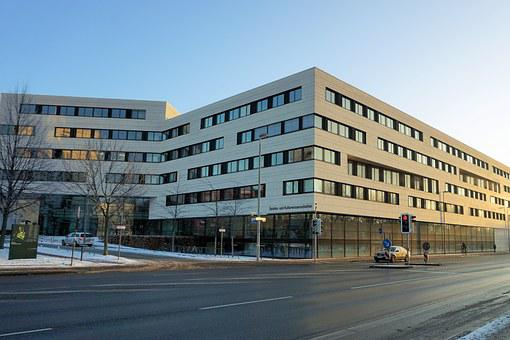 Building, Kassel, Uni, University, Architecture, Facade