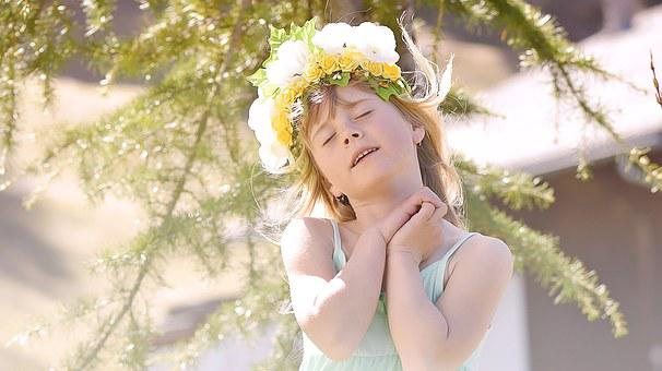 Human, Child, Girl, Face, In Thoughts, Dreamy, Spring