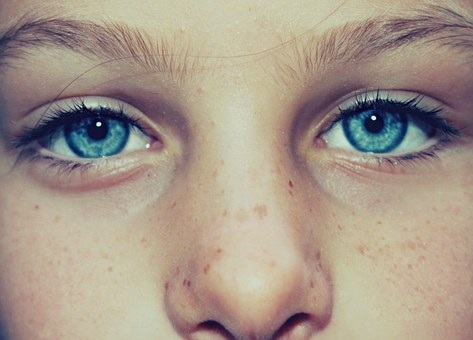Eye, Clear, Freckles, Face, Little Girl, Woman, Girl