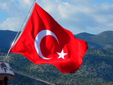 Flag, Turkish, Turkey, Crescent, National Flag