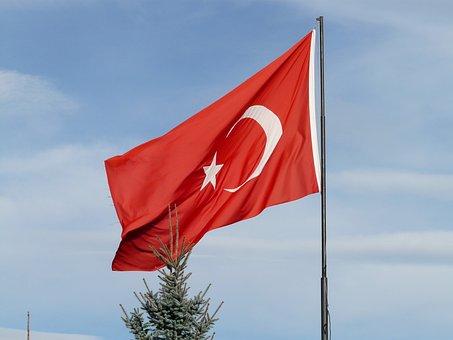 Turkey, Turkish Flag, Flag, Turkish, Crescent