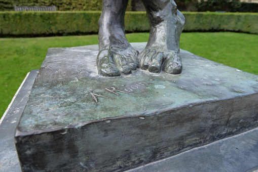 Sculpture, Feet, Rodin, Paris, Platform, Cross Feet