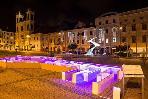 Light Expo, Light, Art, Night, Buildings