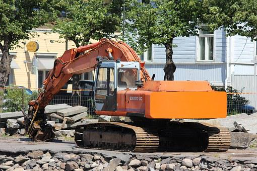 Construction Machine, Shovel, Earth-moving Machinery
