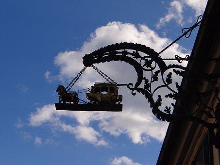 Guild Sign, Guild, Shadow, Sky, Silluette