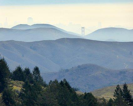 San Fransisco, Marin County, City, Landscape, Bridge