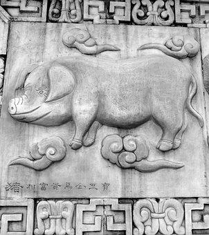 Hai, Pig, Chinese Horoscope, Animals, Chinese