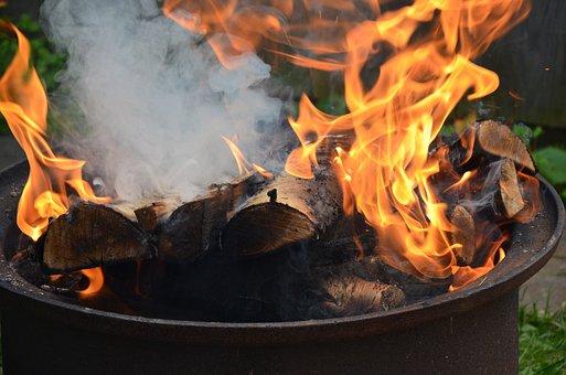 Fire, Koster, Burn, Firewood, Burns, Fever