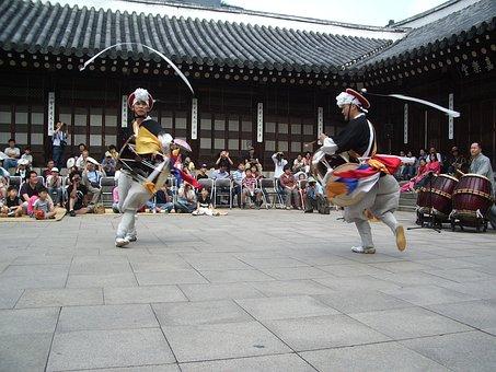Korea, Dance, Temple, Tradition, Culture, Asia, Asian