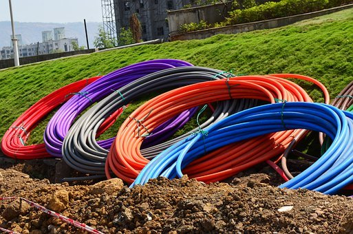 Conduit, Pipes, Coils, Rolls, Colours, Digging, Earth