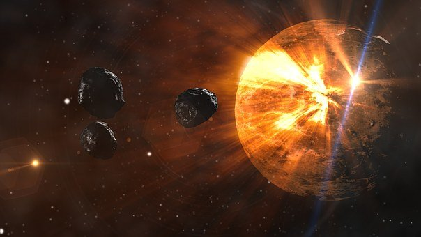 Asteroids, Planet, Space, Meteor, Destruction, Comet