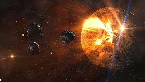 Asteroids, Planet, Space, Meteor, Destruction, Comet