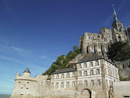 Mount St Michel, France, Castle, French, Cathedral