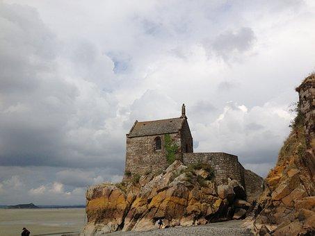 Mont Saint Michel, Rock, Chapel