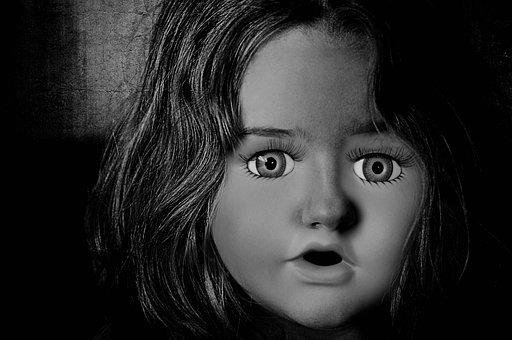 Face, Woman, Horror, Shudder, Fear, Disgust, Gray
