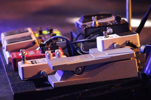 Guitar, Pedal, Electric, Equipment, Instrument, Studio