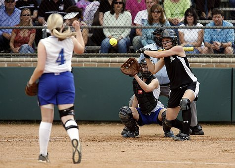 Softball, Game, Girls, Batter, Pitch, Competition